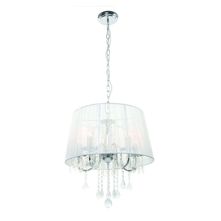 Lampa Wisząca Mona 5 E14 srebrny